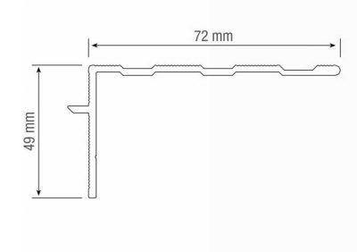 Abmessungen Montageprofil Z Treppe sanieren