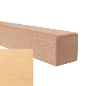 Handlauf vierkant in Ahorn mit abrundeten Ecken