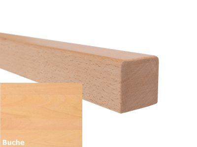 Handlauf vierkant in Buche mit abrundeten Ecken