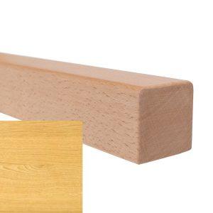 Handlauf vierkant in Eiche mit abrundeten Ecken