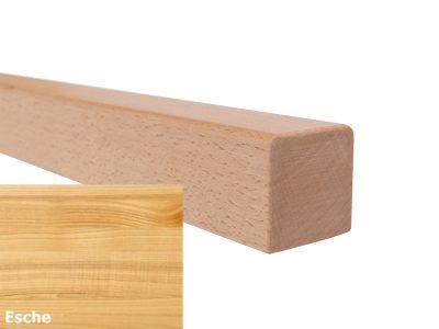 Handlauf vierkant in Esche mit abrundeten Ecken