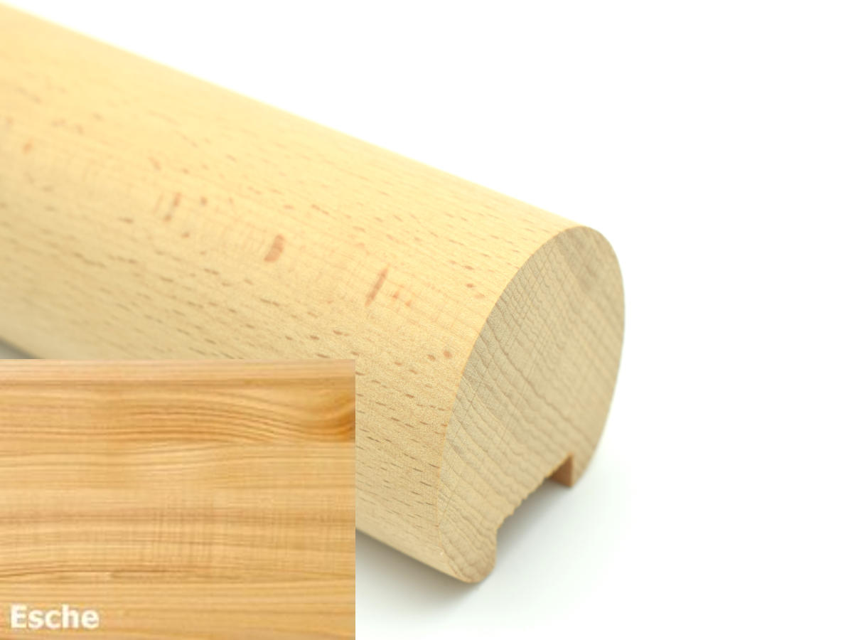 Esche Holz Treppe Handlauf Gel/änder Griff gerade Edelstahlhalter L/änge 30-500 cm aus einem St/ück//zum Beispiel L/änge 30 cm mit 2 gerade Halter Enden = Edelstahlbogen