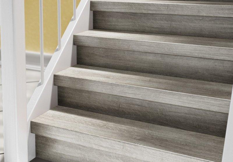 Super Setzstufen Vinyl - für 2 Stufen - Treppenrenovierung mit Treppen Kraus GR06