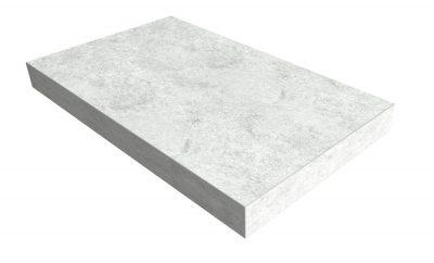 Blockstufen Laminat Betongrau Stone